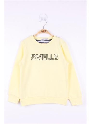 Toontoy Kids Toontoy Kız Çocuk Smells Baskılı Sweatshirt Sarı